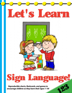 Let's Learn Sign Language (123) Preschool Curriculum | Sonbeams at Foundations Press